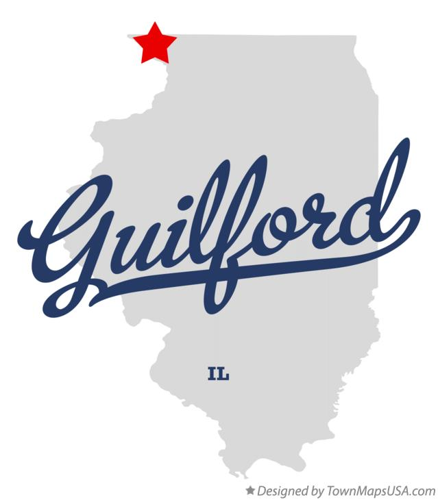 Map of Guilford Illinois IL