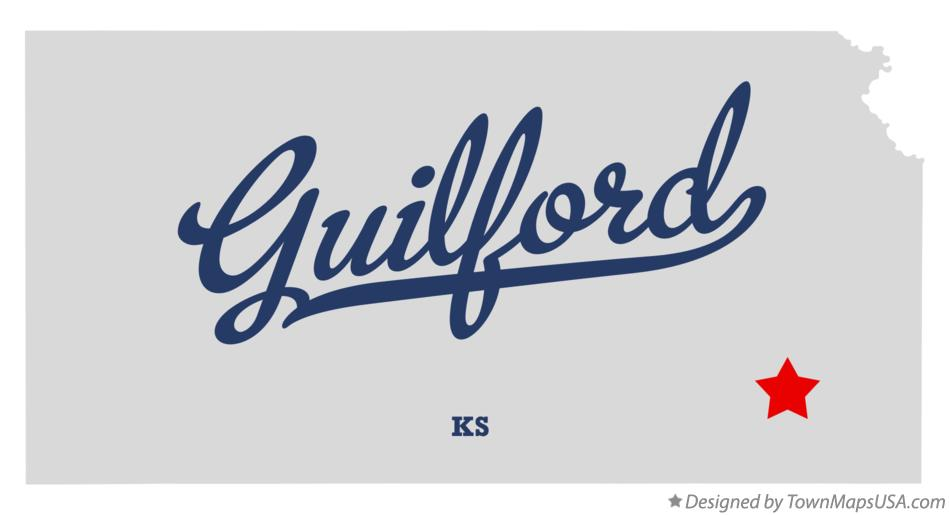 Map of Guilford Kansas KS