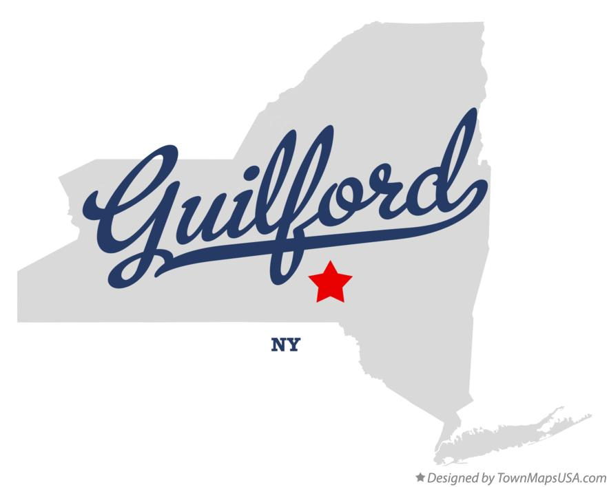 Map of Guilford New York NY