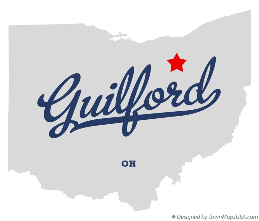 Map of Guilford Ohio OH