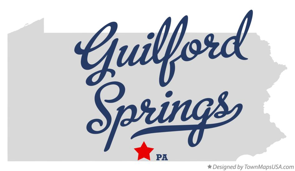 Map of Guilford Springs Pennsylvania PA