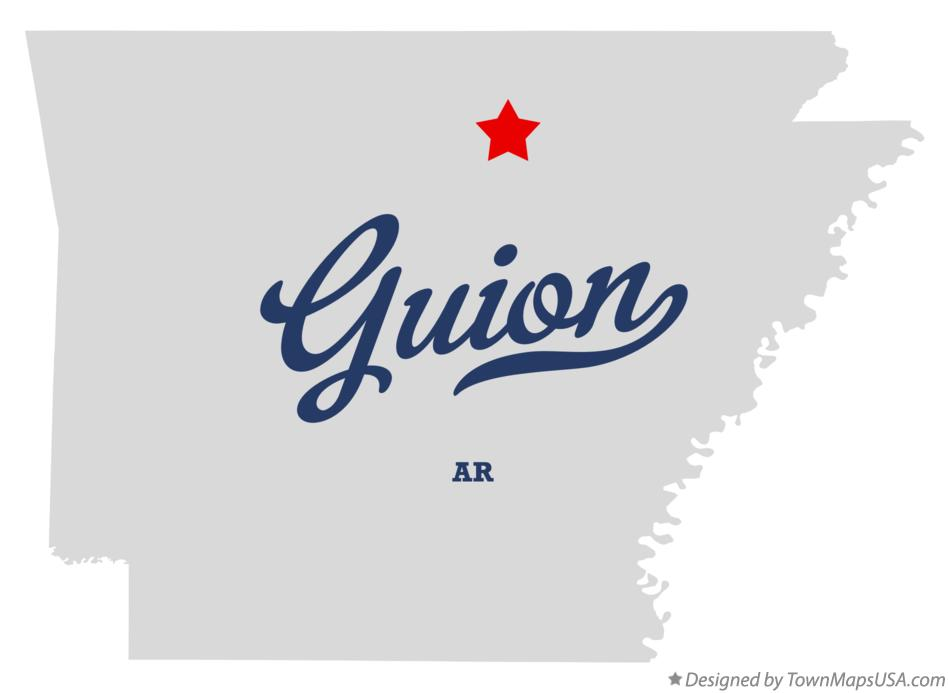 Map of Guion Arkansas AR