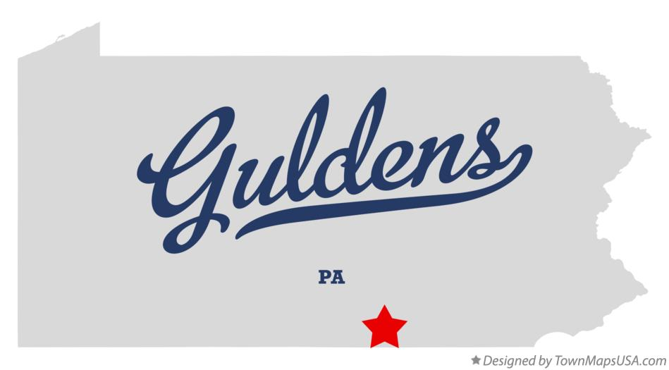 Map of Guldens Pennsylvania PA