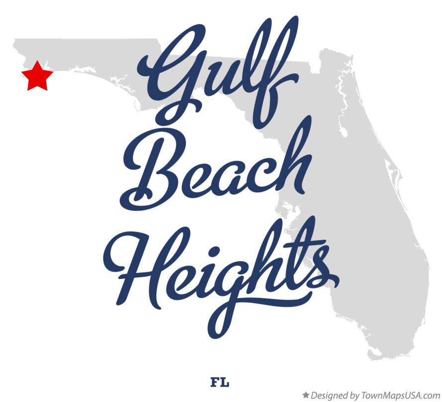 Map of Gulf Beach Heights Florida FL