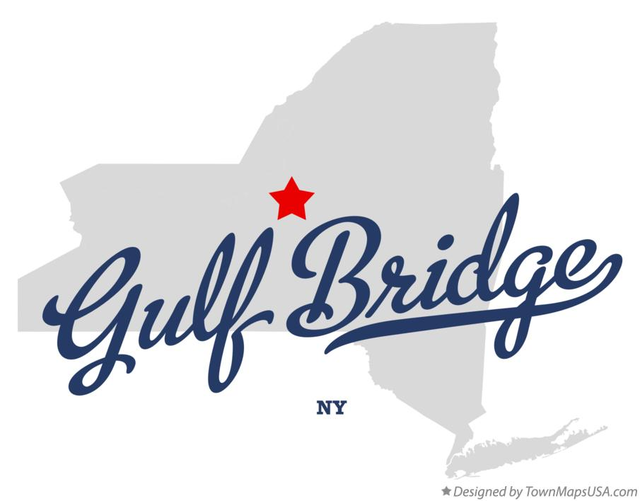 Map of Gulf Bridge New York NY