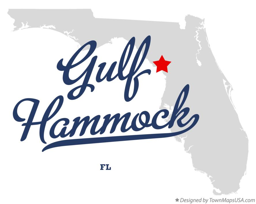 Map of Gulf Hammock Florida FL