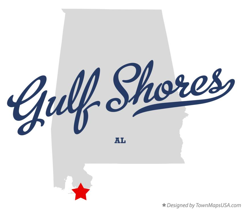 Map of Gulf Shores Alabama AL