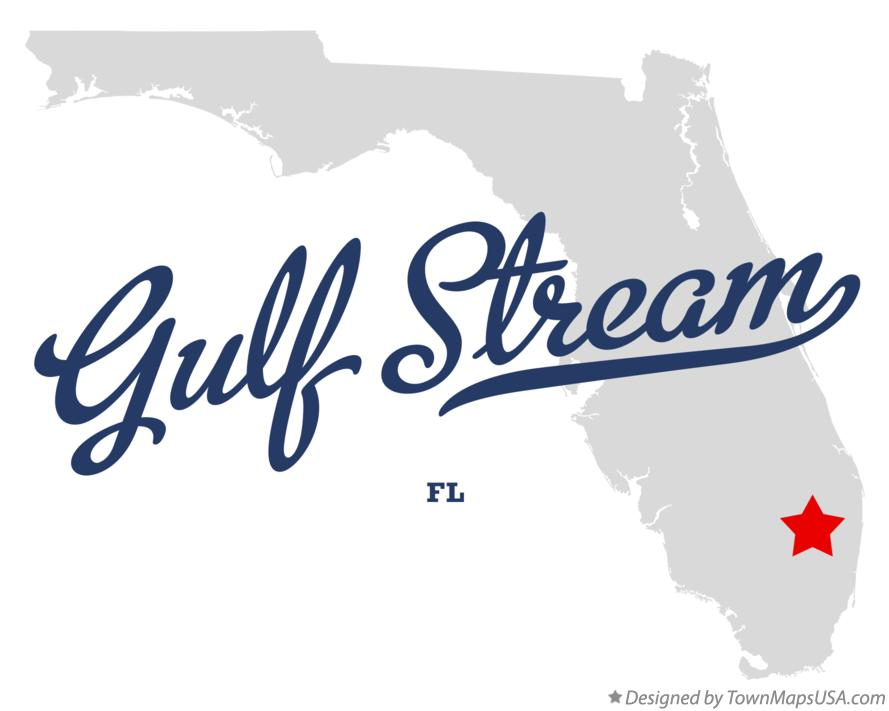 Map of Gulf Stream Florida FL