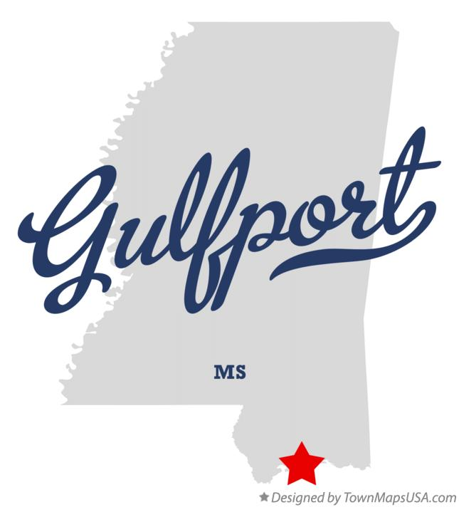 Map of Gulfport Mississippi MS