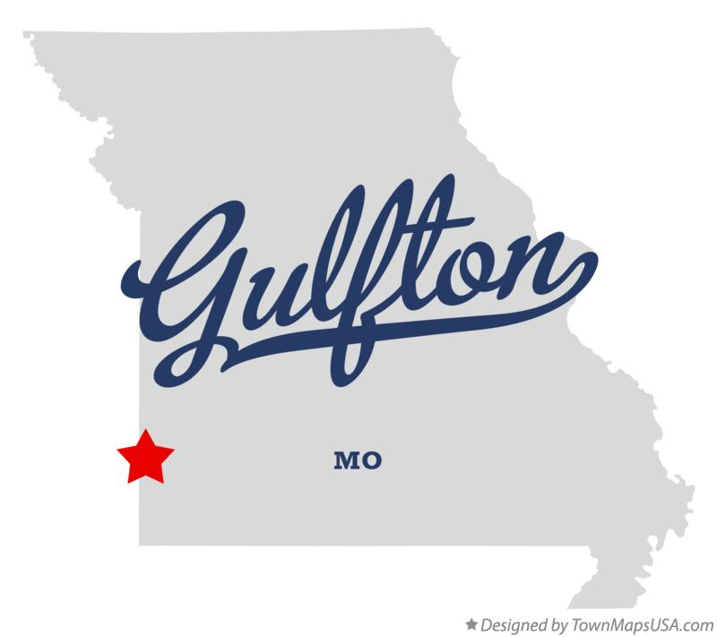 Map of Gulfton Missouri MO
