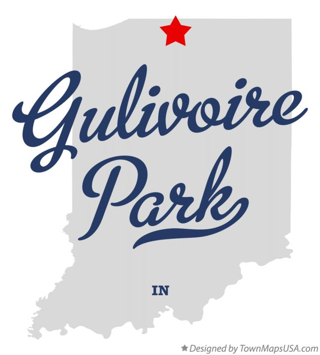 Map of Gulivoire Park Indiana IN