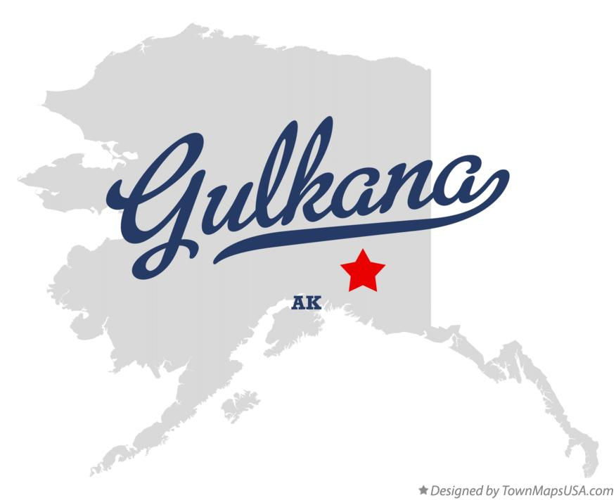 Map of Gulkana Alaska AK