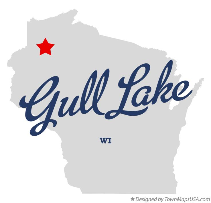 Map of Gull Lake Wisconsin WI