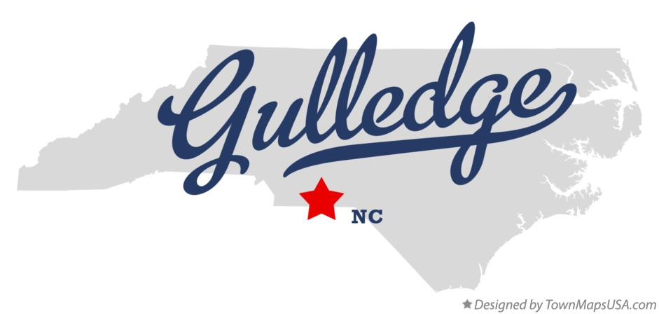 Map of Gulledge North Carolina NC