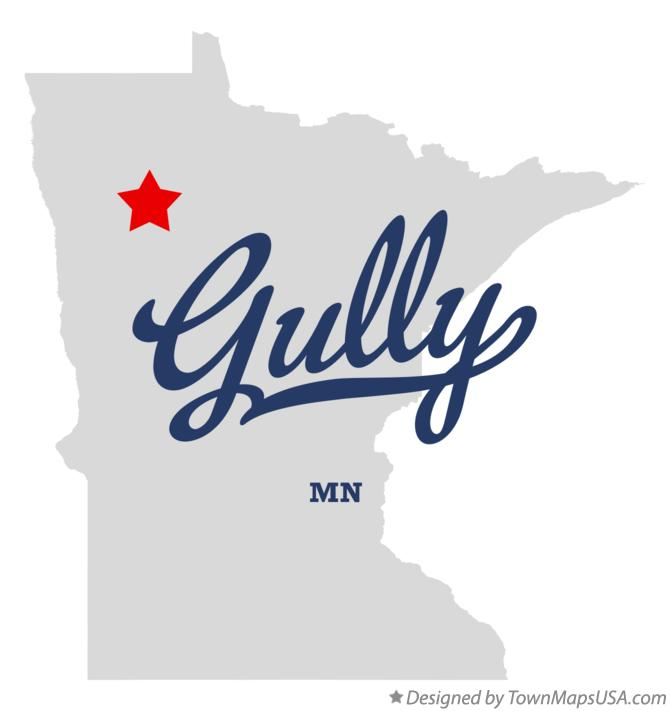 Map of Gully Minnesota MN