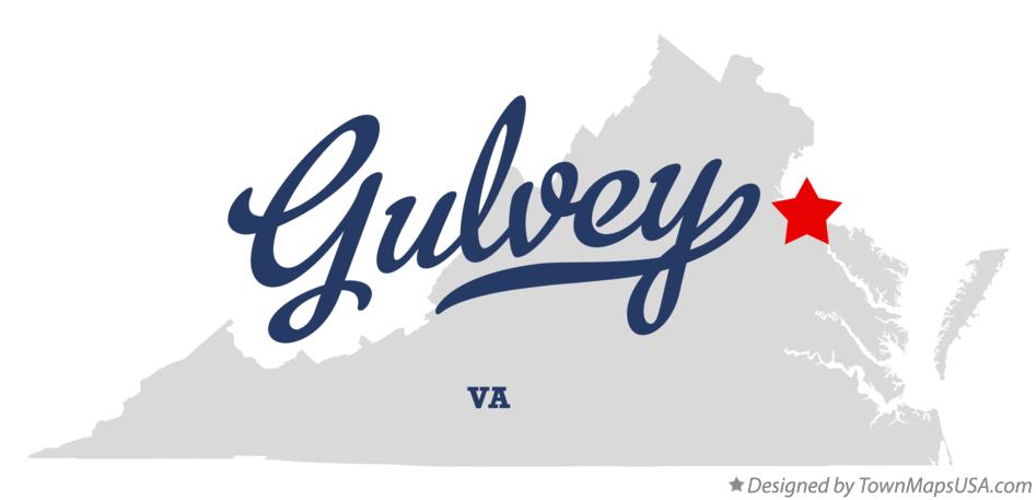 Map of Gulvey Virginia VA