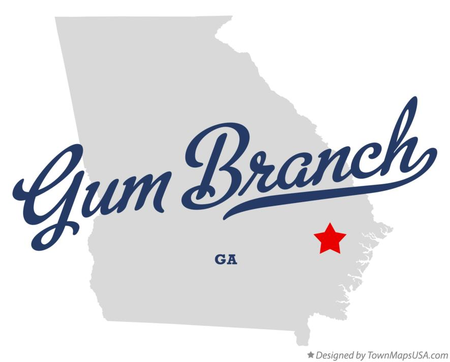 Map of Gum Branch Georgia GA