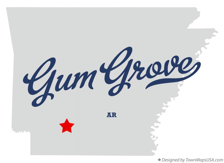 Map of Gum Grove Arkansas AR