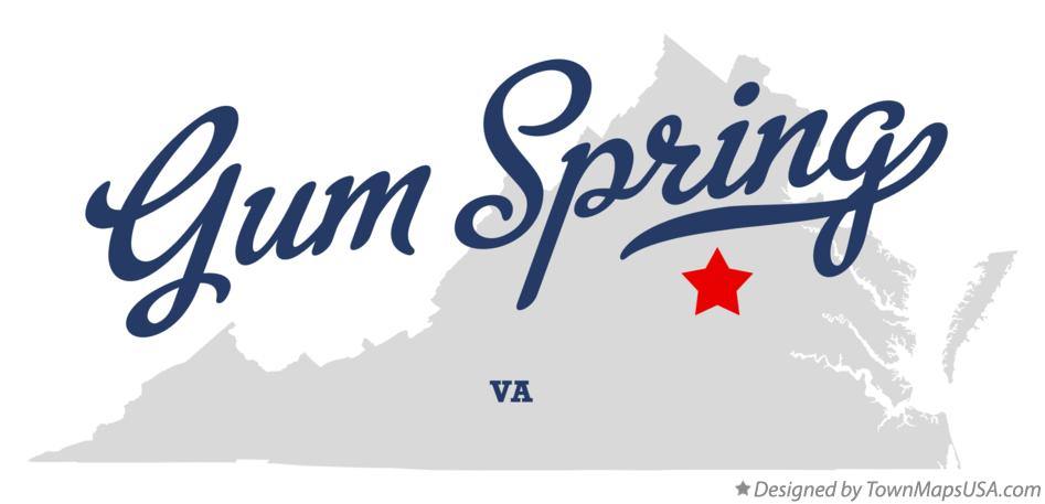 Map of Gum Spring Virginia VA