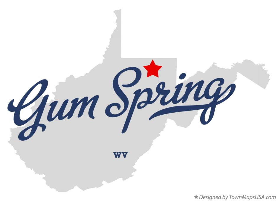 Map of Gum Spring West Virginia WV