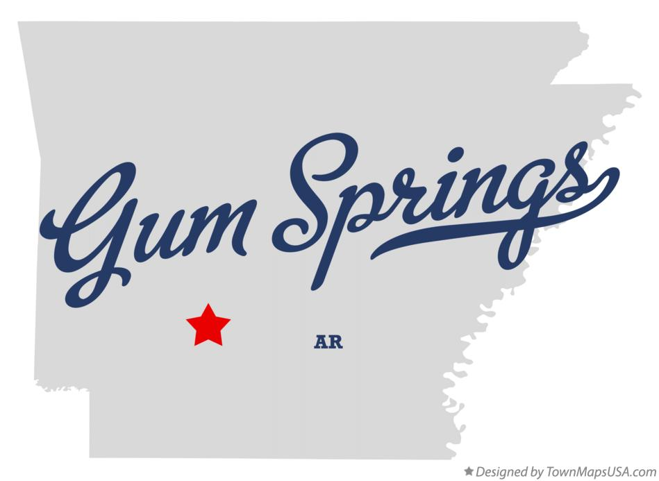 Map of Gum Springs Arkansas AR