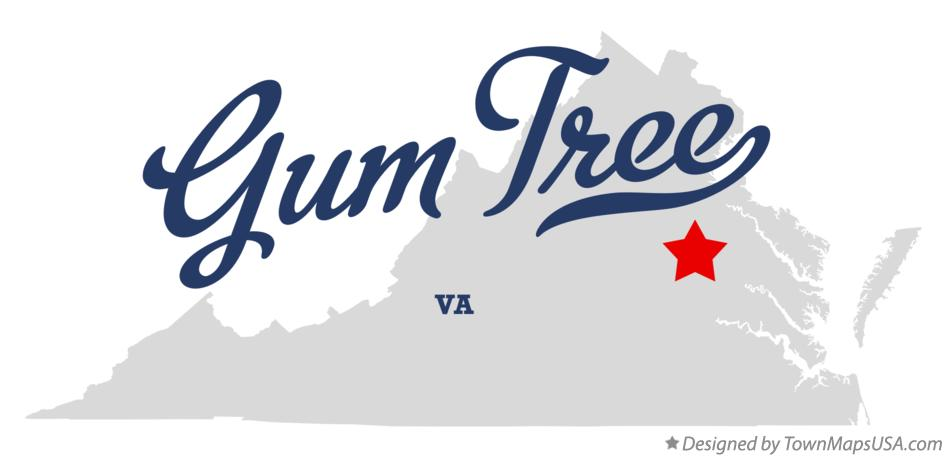 Map of Gum Tree Virginia VA