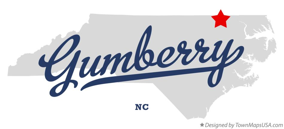 Map of Gumberry North Carolina NC