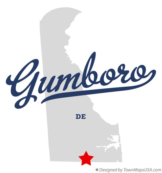 Map of Gumboro Delaware DE