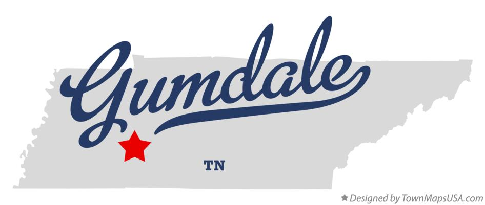 Map of Gumdale Tennessee TN