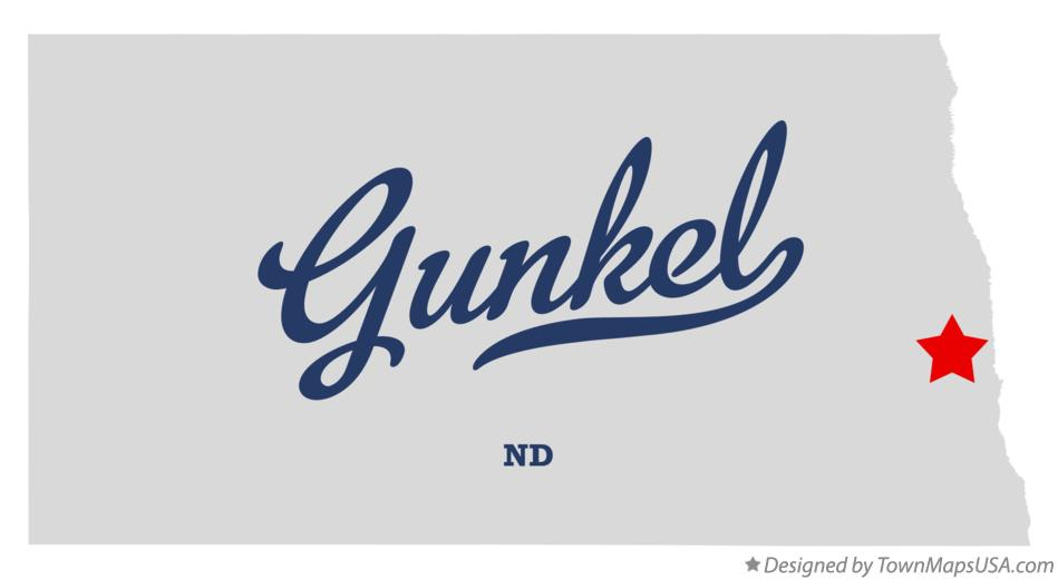 Map of Gunkel North Dakota ND