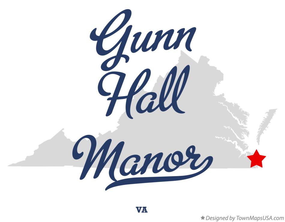 Map of Gunn Hall Manor Virginia VA