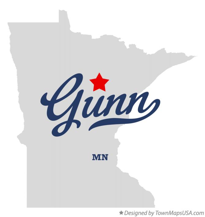 Map of Gunn Minnesota MN