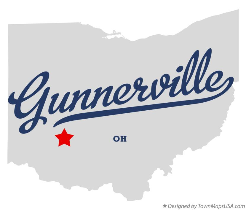 Map of Gunnerville Ohio OH
