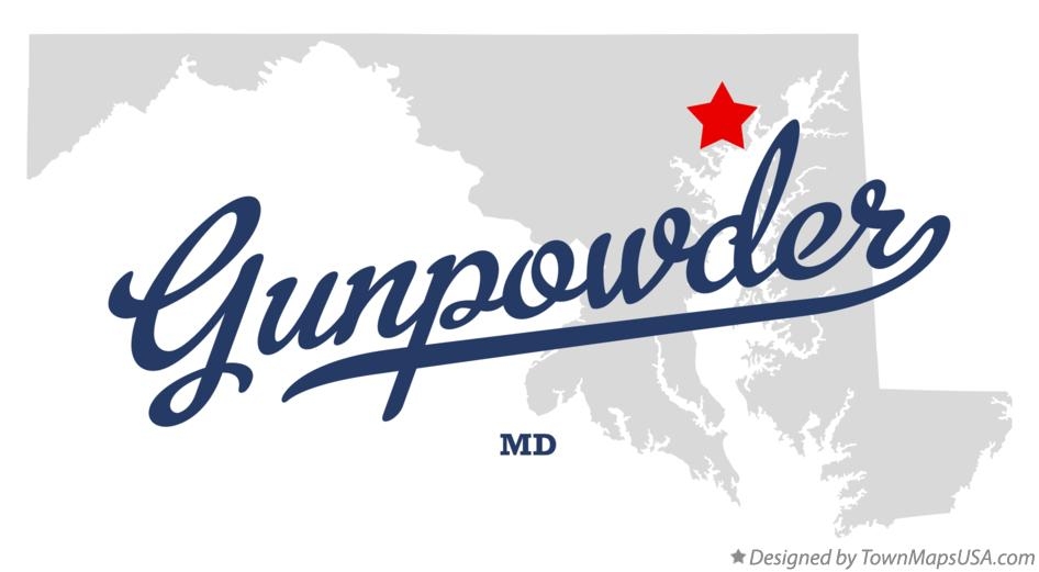 Map of Gunpowder Maryland MD