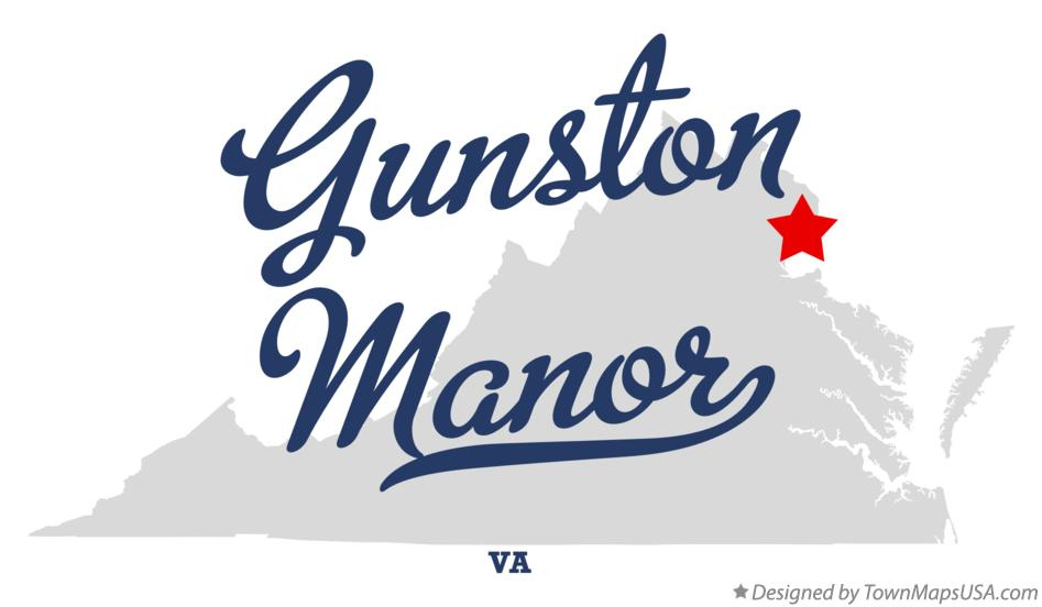 Map of Gunston Manor Virginia VA