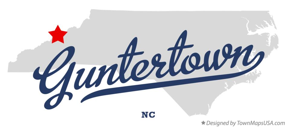 Map of Guntertown North Carolina NC