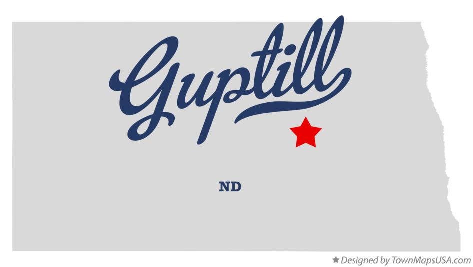 Map of Guptill North Dakota ND