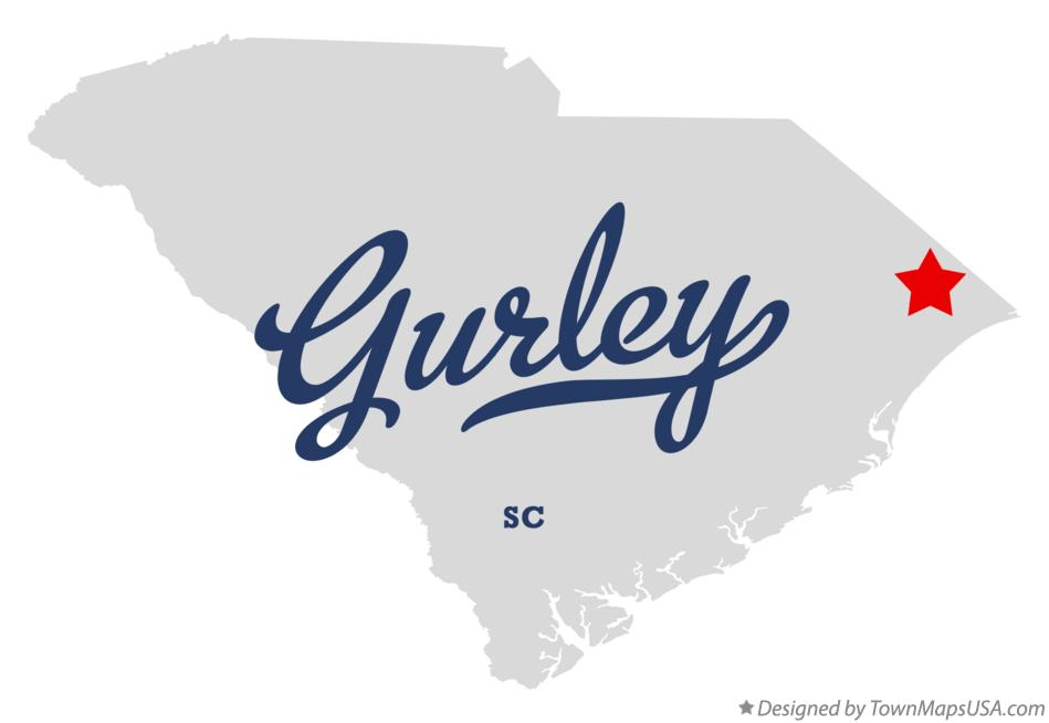 Map of Gurley South Carolina SC