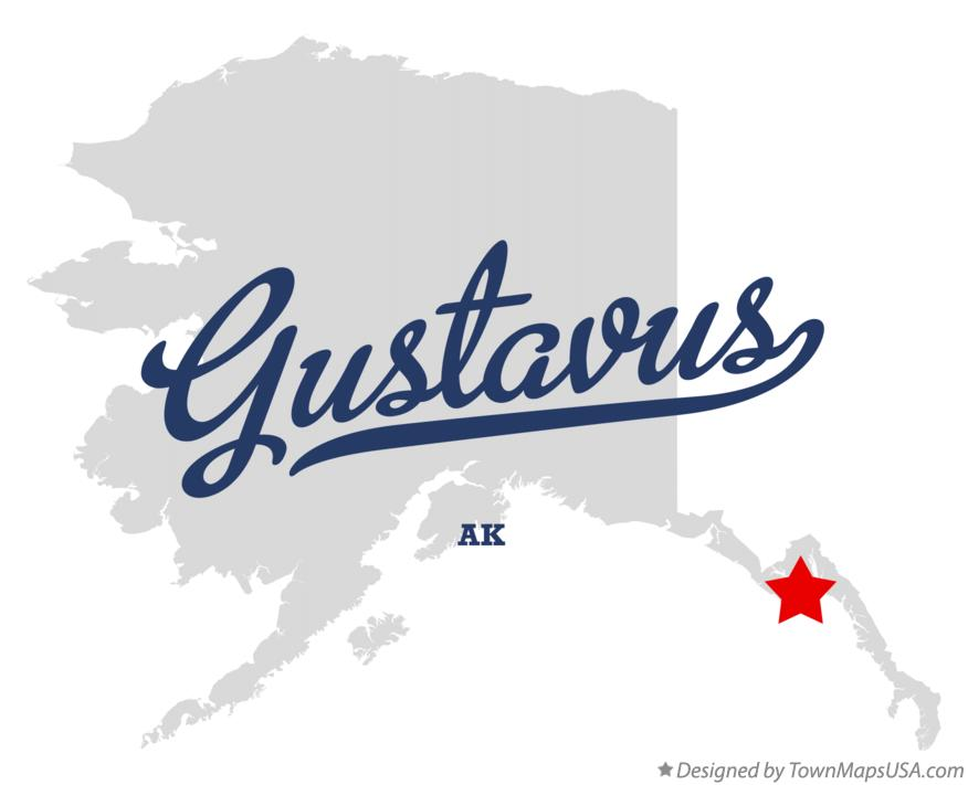Map of Gustavus Alaska AK