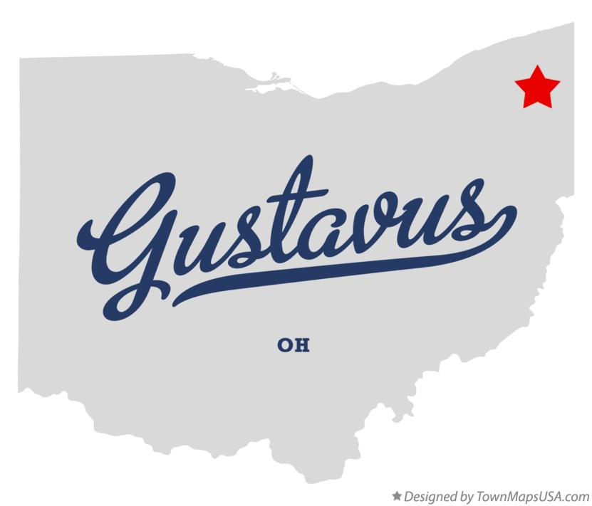 Map of Gustavus Ohio OH