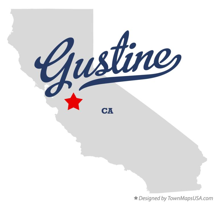 Map of Gustine California CA