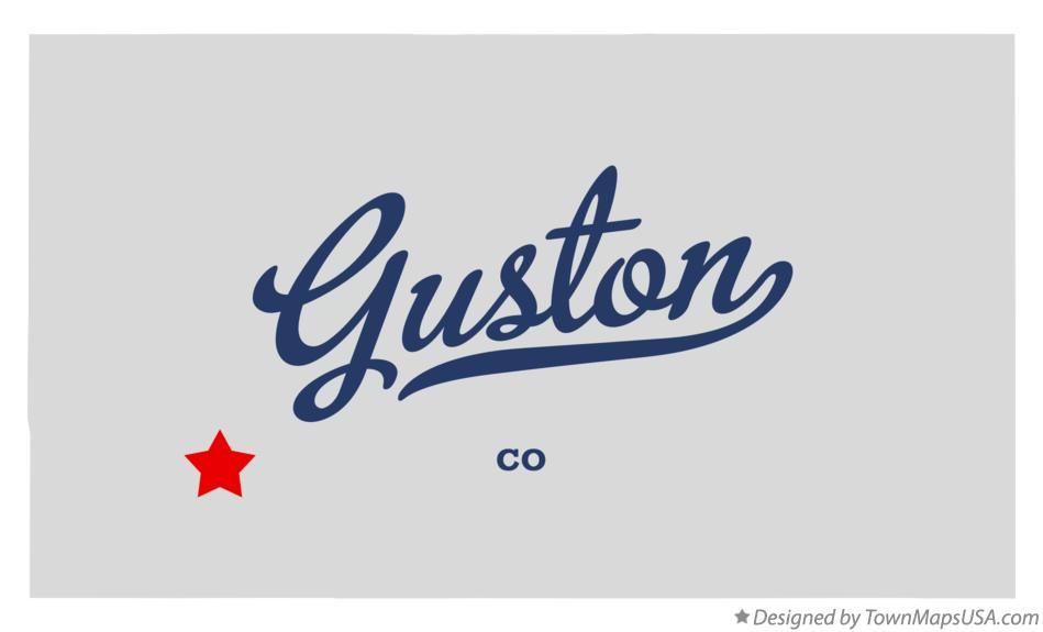 Map of Guston Colorado CO