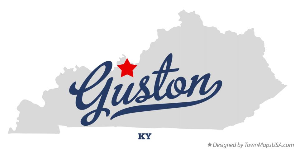 Map of Guston Kentucky KY