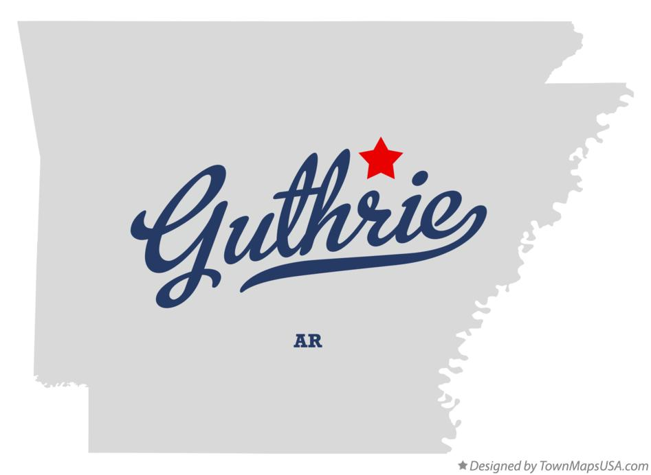 Map of Guthrie Arkansas AR