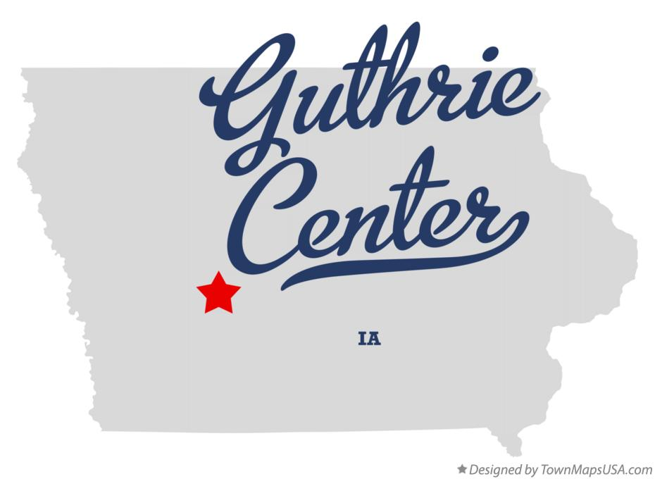 Map of Guthrie Center Iowa IA