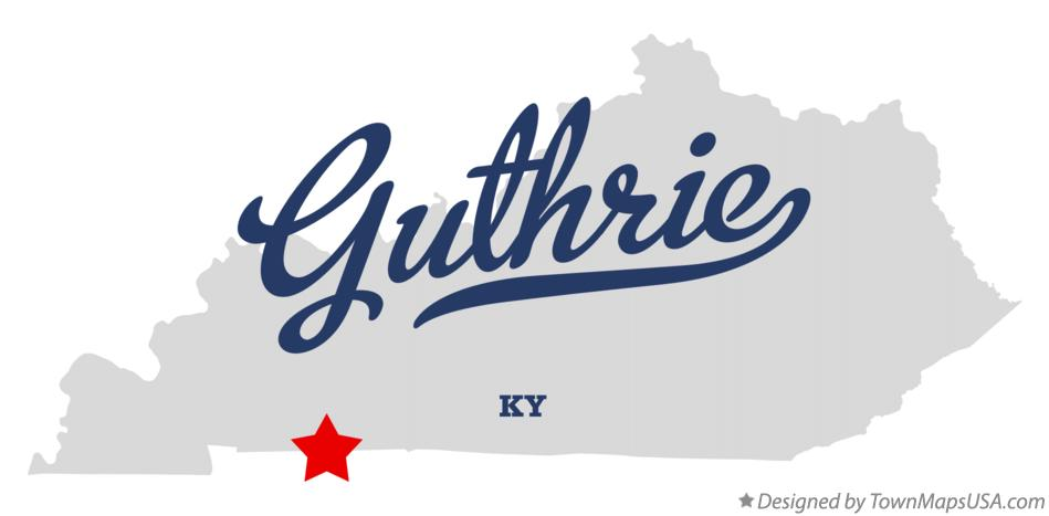 Map of Guthrie Kentucky KY