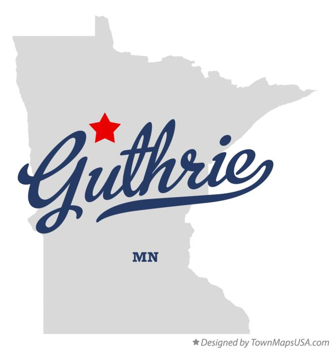 Map of Guthrie Minnesota MN