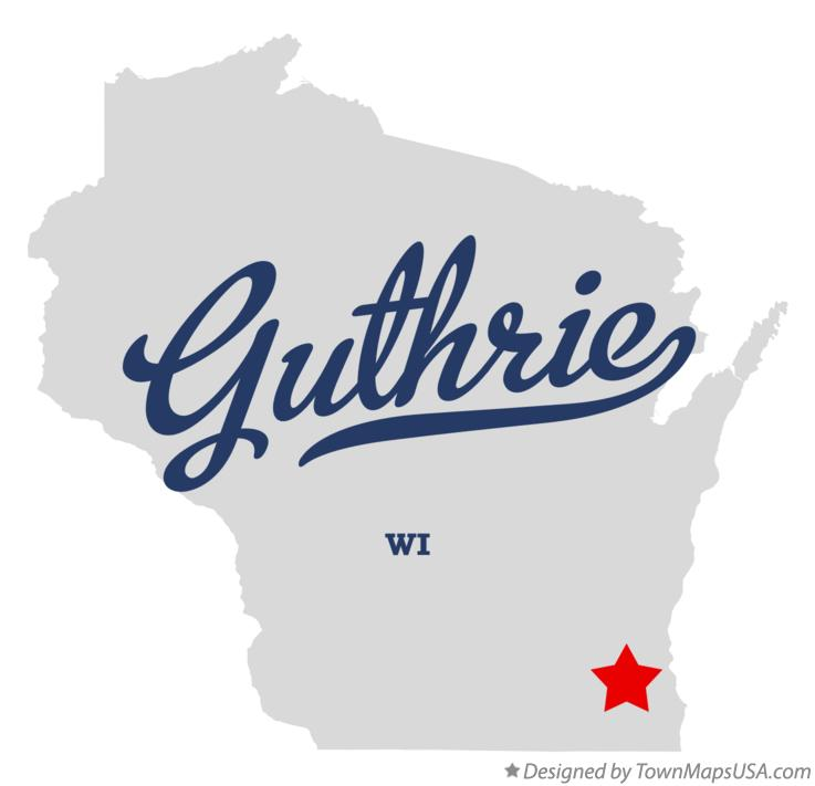 Map of Guthrie Wisconsin WI
