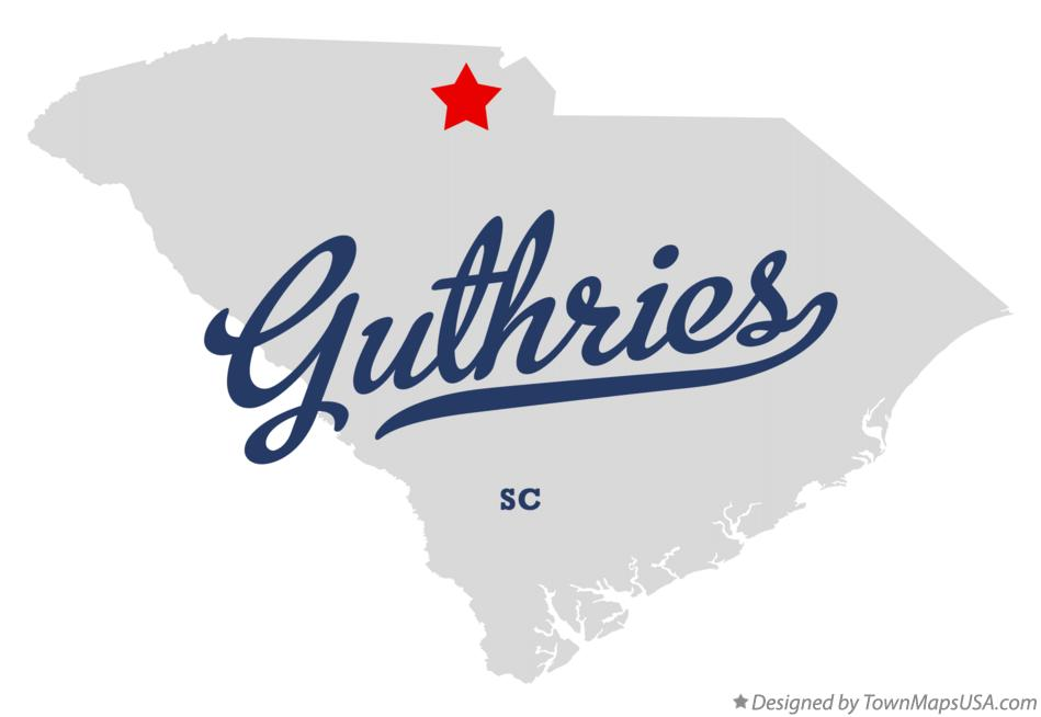 Map of Guthries South Carolina SC