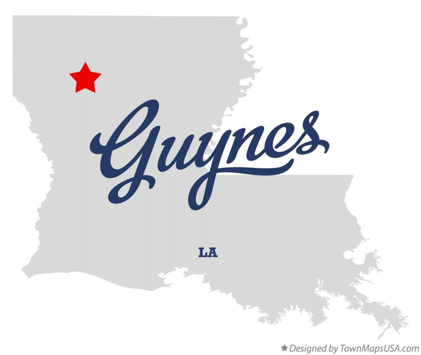 Map of Guynes Louisiana LA